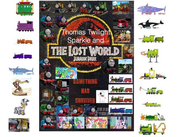 File:Thomas, Twilight Sparkle and The Lost World- Jurassic Park.jpg