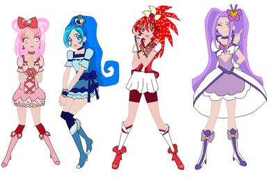 Htf girls as pretty cure by fairy of cartoon14-d8jq3iv