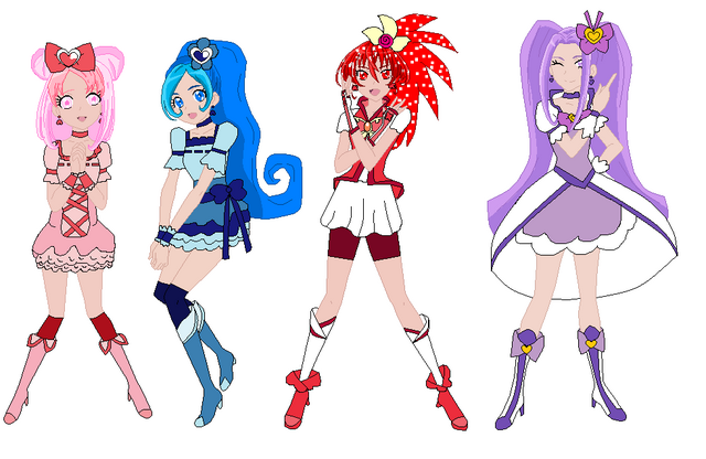 File:Htf girls as pretty cure by fairy of cartoon14-d8jq3iv.png
