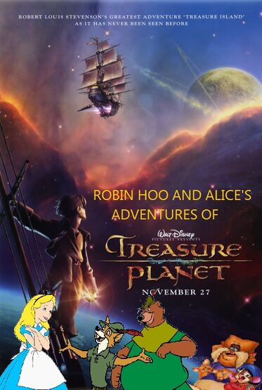 Robin Hood and Alice's Adventures of Treasure Planet poster