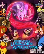 Pooh's adventures of The Penguins of Madagascar Operation Lunacorn Apocalypse Poster
