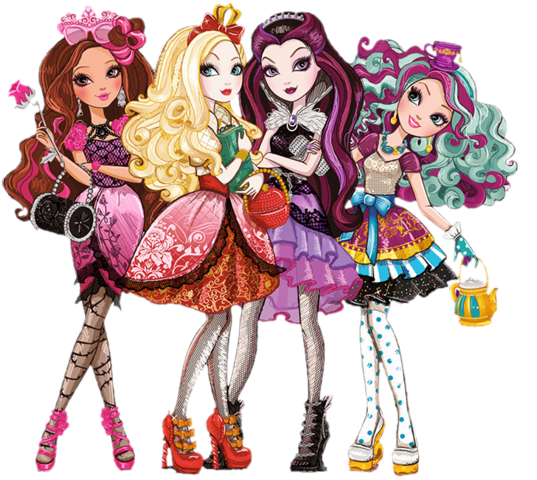 File:Ever after high group cutout by shaibrooklyn-d67alz0.png