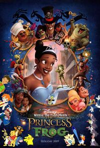 Winnie the Pooh Meets The Princess and the Frog Poster