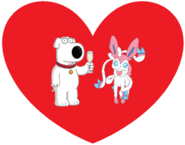 Brian Griffin and Sylveon