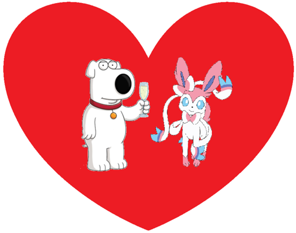 File:Brian Griffin and Sylveon.png