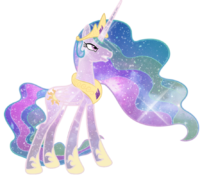 Mlp princess celestia galaxy by soulrainbow-d7gp0vw