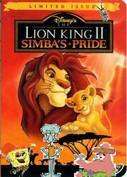 Spongebob's adventures in lion king 2 poster.