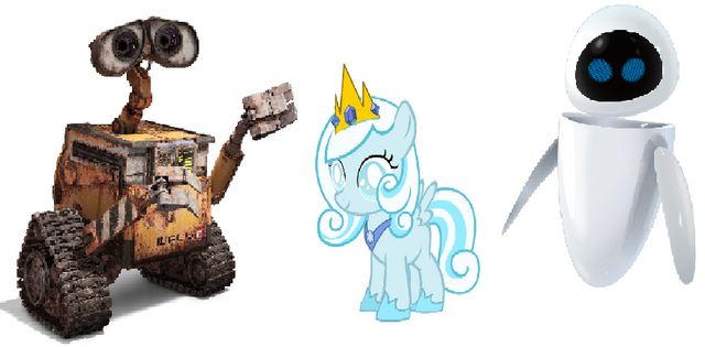 File:Princess Snowdrop, WALL-E and EVE.png