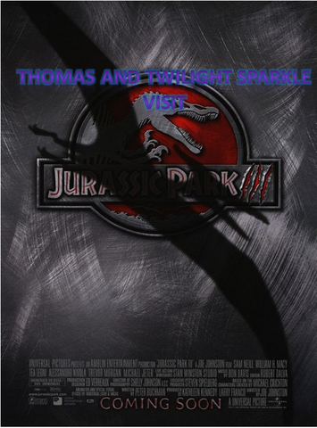 File:Thomas and Twilight Sparkle visit Jurassic Park III.png