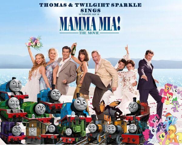 File:Thomas and Twilight Sparkle sings Mamma Mia Poster.jpg