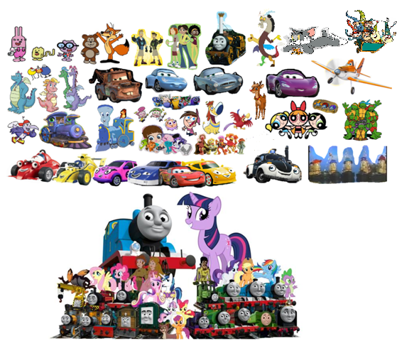 File:Roary the Racing Car and Theodore Tugboat's Whole team Remake 2.png