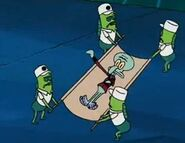 Squilliam's defeat in Band Geeks