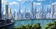 Cross fate city concept by adimono-d3rdiy0