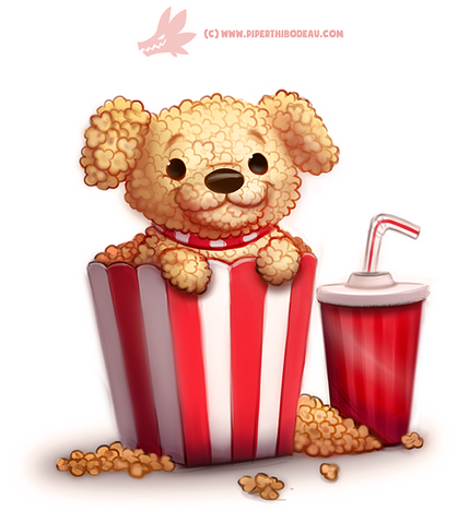 File:Daily paint 1287 pupcorn by cryptid creations-da4jl3w.png