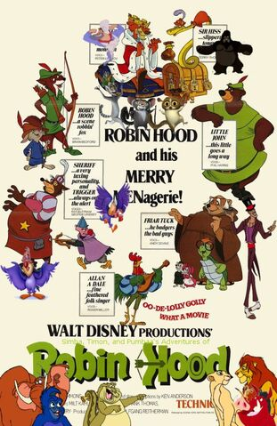 File:Simba, Timon, and Pumbaa's Adventures of Robin Hood poster.jpg