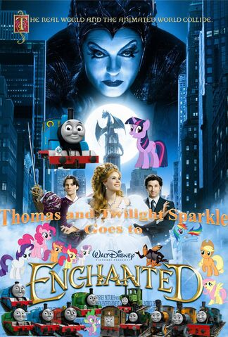 File:Thomas and Twilight Sparkle Goes to Enchanted Poster.jpg