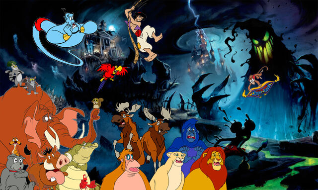 File:Simba Timon and Pumbaa's adventures of Epic Mickey Poster.jpg