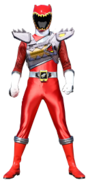 Dino Charge Red Ranger in Dino Drive