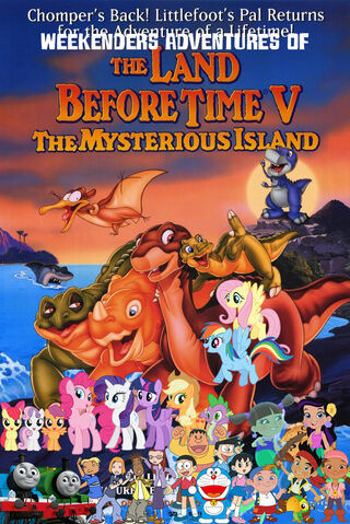 File:Weekenders Adventures of The Land Before Time 5- The Mysterious Island (Remake poster).jpg