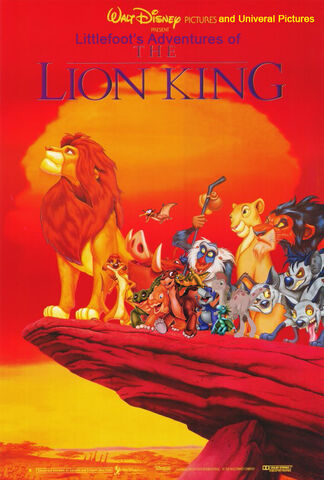 File:Littlefoot's Adventures of The Lion King Poster.jpg