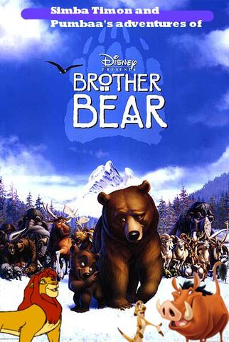File:Simba Timon and Pumbaa's adventures of Brother Bear Poster.jpg