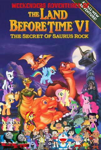 File:Weekenders Adventures of The Land Before Time 6- The Secret of Saurus Rock (Remake poster).jpg