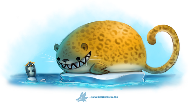 File:Daily paint 1269 leopard seal by cryptid creations-da2e228.png