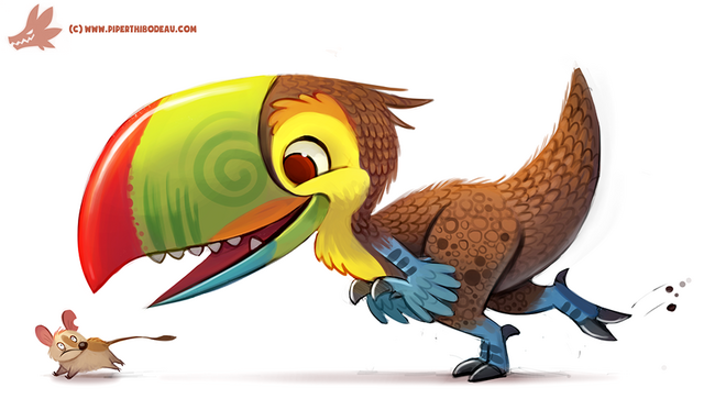 File:Daily paint 1151 toucaraptor by cryptid creations-d9o36qk.png