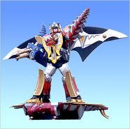 Thundersaurus Megazord Stega Surfboard and Drago Wings