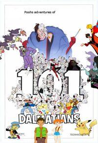 Pooh's adventures of 101 Dalmatians poster