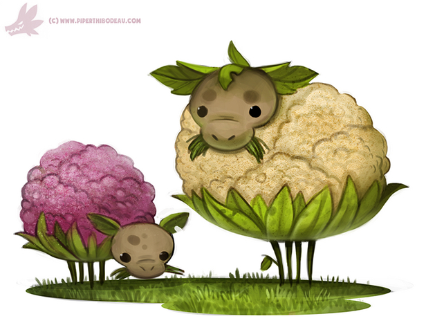 File:Daily paint 1096 cauliflower sheep by cryptid creations-d9hkpky.png
