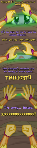 File:Princess Twilight captured in Gaea Everfree's brambles.png