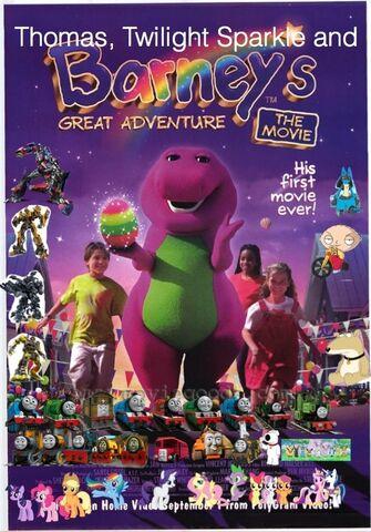 File:Thomas, Twilight Sparkle and Barney's Great Adventure.jpg