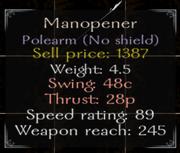 Manopener Stats