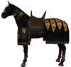 Caparisoned horse black