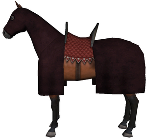 Caparisoned horse burgundy