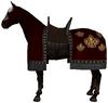 Caparisoned horse red