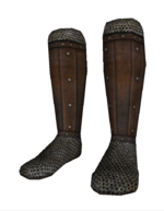 Leather greaves a