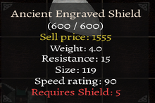 Maltise Ancient Engraved Shield
