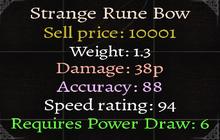 Strange Rune Bow Stats