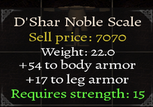 D'Shar Noble Scale-0