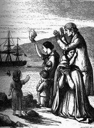 Emigrants Leave Ireland by Henry Doyle 1868