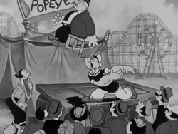 Popeye Strongman in King of the Mardi Gras