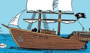 Vile Body as a pirate ship