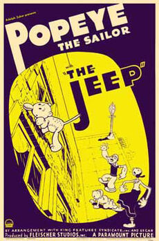 Popeye poster jeep