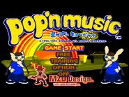 Pop'n Music Start Screen