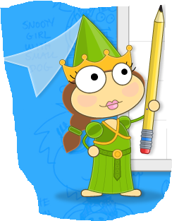 File:Princess holding a pencil.png