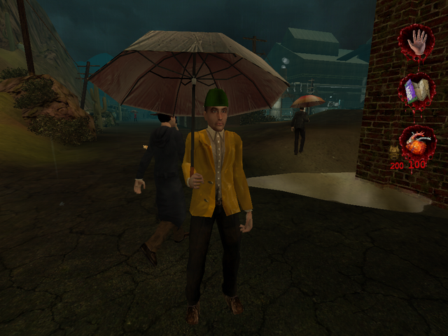 Plik:Man in raincoat with umbrella 001.PNG