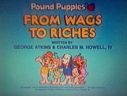 Title Screen for From Wags to Riches