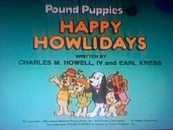 Title screen for Happy Howlidays
